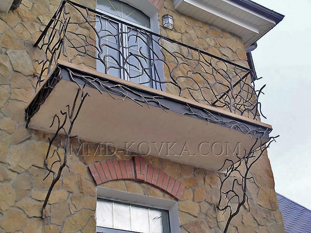 Балконы и ограждения балконов кованые купить в тольятти. огр.
